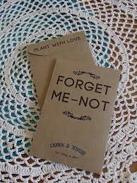 forget me not seed packets seed packet custom wedding favor forget me not favour fill