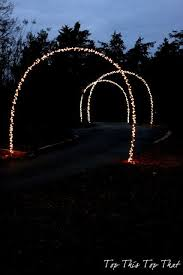 outdoor christmas lights and diy arches outdoor christmas