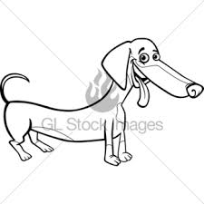 pug dog cartoon coloring book gl stock images