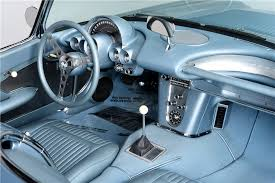 Custom Corvette Interior Silver Blue 1958 Corvette With Updated Factory Chassis