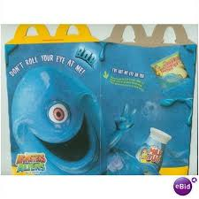 2009 mcdonalds monsters aliens happy meal box ebid