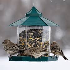 outdoor gazebo wild bird feeders with interlocking deck tiles for