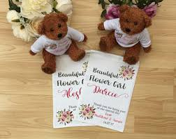 flower girl teddy gift flower girl gift personalised teddy bridesmaid gifts