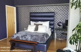 modern u0026 geometric wall stencils hollywood squares stencil