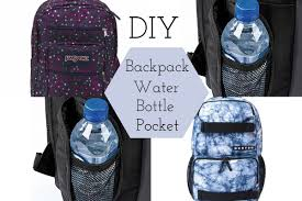 diy backpack water bottle pocket youtube