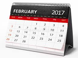 minion desk calendar 2017 february 2017 desktop calendar 3d illustration stock illustration