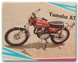 yamaha 1972 at2 125 enduro vinatge motorcycle trading card ebay