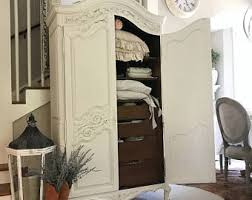 Wood Armoire Wardrobe Armoire Etsy