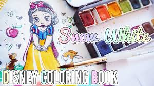 snow white coloring book disney watercolor coloring book snow white youtube