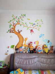 aliexpress com buy oversize jungle animals tree monkey owl aliexpress com buy oversize jungle animals tree monkey owl removable wall decal stickers muraux nursery room decor wall stickers for kids rooms from