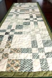 sage green table runner patchwork quilted green cream table runner sage green table decor