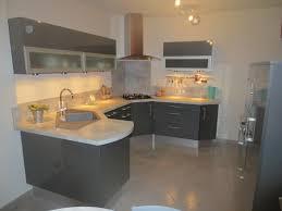 cuisine en forme de l modele etoile anthracite brillant cuisines couloir cuisine en u de