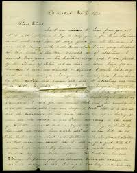 interesting 1866 letter written by former confederate soldier