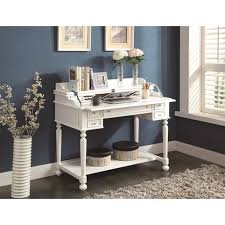 small white writing desk with drawers decorative desk decoration
