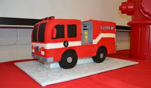 firetruck cake truck birthday cake ii