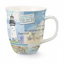 cape shore cape cod mug coastal collage classic nautical design