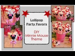lollipop party favors diy minnie mouse lollipop theme party favors decorations