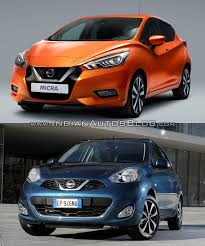 nissan micra 2017 2017 nissan micra vs old model front indian autos blog