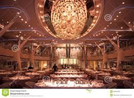 Ship Chandelier Restaurant On Cruise Ship Stock Photo Image 36692880