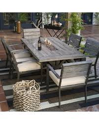 patio table with fire pit on sale now 32 off outdoor belham living silba 7 piece envirostone