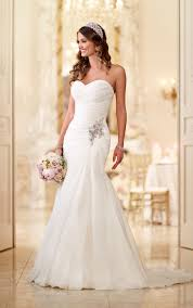 strapless wedding gowns read about soft organza fit and flare strapless wedding gowns with