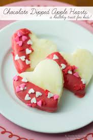 chocolate dipped apple hearts kids treat sugar bee crafts