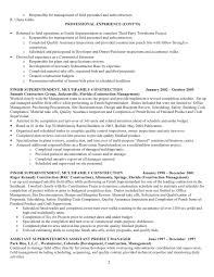 Construction Company Resume Resume For R Ulann Gibbs Construction Mgt 09 F No Phone Nos