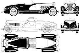 vintage cars drawings duesenberg car blueprints die autozeichnungen les plans d