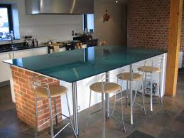 kitchen island furniture kitchen great blue glass top breakfast