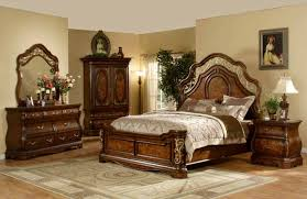 mollai collection 6pc bedroom set with cherry finish decorative