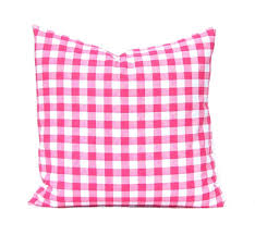 plaid pillow covers small gingham six colors to choose from