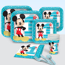 mickey mouse 1st birthday mickey mouse 1st birthday party supplies theme party packs