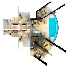 Infinite Home Designs Tampa Fl Home With Infinity Pool And Glass Bottomed Pool Rendered In 3d