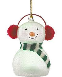 bargains on wonderball snowman in knit muffs lighted ornament