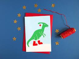 funny dinosaur christmas cards cute quirky christmas card