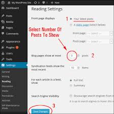 tutorial wordpress blog tutorial how to set the number of posts displayed on your wordpress