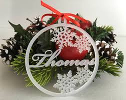 custom name ornament etsy