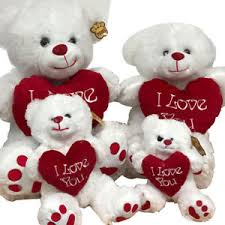 teddy bears for valentines day white teddy with i you heart 4 sizes valentines