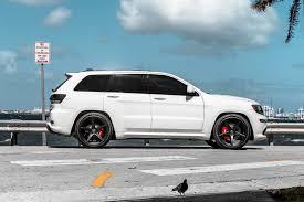 white jeep black rims white jeep srt8 velgen wheels classic5 satin black 22x10 5