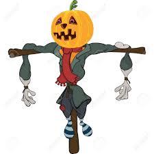 scarecrow halloween scarecrow halloween pumpkin cartoon royalty free cliparts vectors
