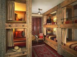 Cowboy Bunk Beds Cowboy Hangout Rustic Beams Are Used To Create Oversized Bunk Beds