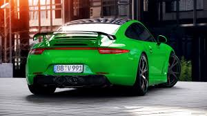 green porsche 911 2013 techart porsche 911 carrera 4s emerald green rear hd