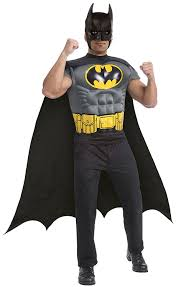 amazon com halloween costumes amazon com rubie u0027s costume co batman muscle chest top with cap