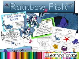 rainbow fish story unit free printable