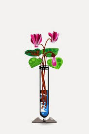 Butterfly Desk Accessories Senecio Flower Workspace Decor Yellow Metal Flowers On A