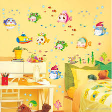 cartoon cute underwater world fish bubble diy wall sticke cartoon cute underwater world fish bubble diy wall sticke wallpaper stickers art decor mural kid s child room decal h11587