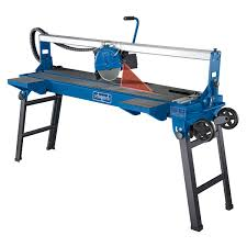 sliding table tile saw scheppach fs4700 1200mm sliding tile saw folding base and wheels