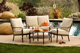 Patio Chairs With Ottoman Patio Cool Conversation Sets Patio Furniture Clearance With