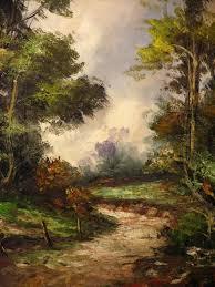 Impressionist Landscape Painting by Vintage Oil Painting Giorgi Colberti Impressionist Landscape Lstd