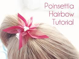 christmas hair bows poinsettia hair bow tutorial woo jr kids activities